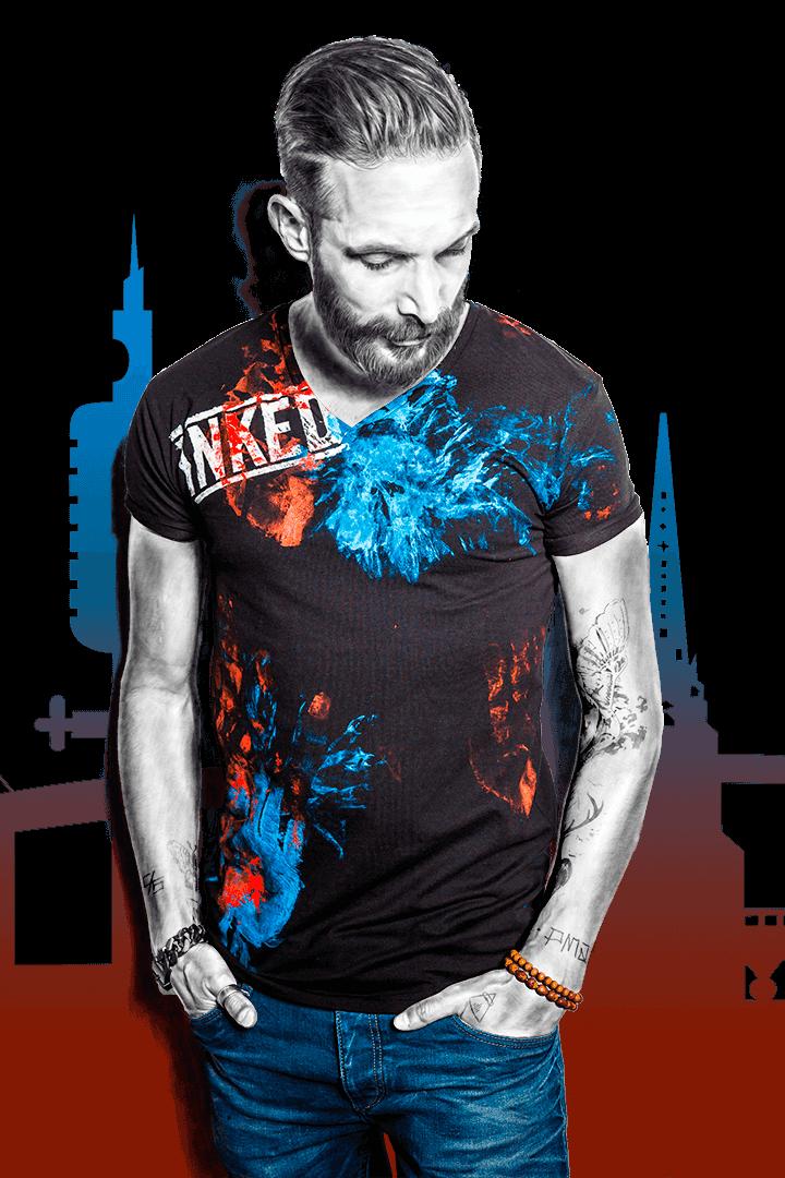T-shirt-Herren-V